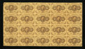 Fractional Currency:First Issue, Fr. 1230 5¢ First Issue Uncut Sheet of Twenty Extremely Fine....