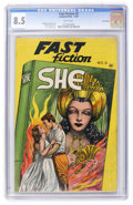 Golden Age (1938-1955):Classics Illustrated, Fast Fiction #3 She - Lost Valley pedigree (Seaboard Pub., 1949)CGC VF+ 8.5 White pages. ...