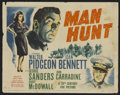 "Movie Posters:Thriller, Man Hunt Lot (20th Century Fox, 1941). Title Lobby Cards (4) (11"" X 14""). Thriller.. ... (Total: 4 Items)"