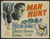 "Man Hunt Lot (20th Century Fox, 1941). Title Lobby Cards (4) (11"" X 14""). Thriller. ... (Total: 4 Items)"