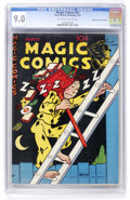 Golden Age (1938-1955):Miscellaneous, Magic Comics #92 Mile High pedigree (David McKay Publications, 1947) CGC VF/NM 9.0 Off-white to white pages. ...