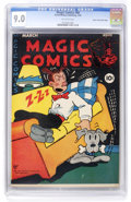 Golden Age (1938-1955):Miscellaneous, Magic Comics #80 Mile High pedigree (David McKay Publications, 1946) CGC VF/NM 9.0 Off-white pages. ...