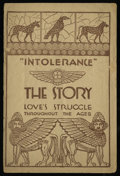 """Movie Posters:Drama, Intolerance (Triangle, 1916). Program (12 Pages, 6"""" X 9""""). Drama.. ..."""