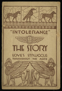 """Intolerance (Triangle, 1916). Program (12 Pages, 6"""" X 9""""). Drama"""