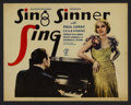 """Movie Posters:Musical, Sing, Sinner, Sing (Majestic, 1933). Title Lobby Card (11"""" X 14""""). Musical.. ..."""