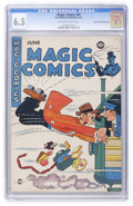 Golden Age (1938-1955):Miscellaneous, Magic Comics #59 Mile High pedigree (David McKay Publications, 1944) CGC FN+ 6.5 Off-white to white pages. ...