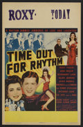 "Movie Posters:Comedy, Time Out for Rhythm (Columbia, 1941). Window Card (14"" X 22""). Comedy.. ..."