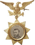 Political:Ferrotypes / Photo Badges (pre-1896), Ulysses S. Grant: Choice, Fancy Ferrotype Campaign Badge....