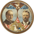 Political:Pinback Buttons (1896-present), McKinley & Roosevelt: Colorful Jugate Pin....