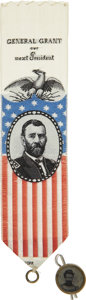 Political:Ferrotypes / Photo Badges (pre-1896), Ulysses S. Grant: Lot of Two Items.... (Total: 2 Items)