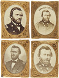 Political:Ferrotypes / Photo Badges (pre-1896), Ulysses S. Grant: Collection of Four Different Campaign Photo Badges.... (Total: 4 Items)
