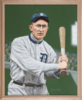 Baseball Collectibles:Others, Circa 2000 Ty Cobb Original Artwork by Arthur Miller. ...