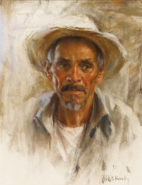 HARLEY BROWN (Canadian, b. 1939) Portrait of a Man Pastel on paper 22 x 17 inches (55.9 x 43.2 cm