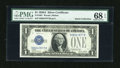 Small Size:Silver Certificates, Fr. 1601 $1 1928A Silver Certificate. PMG Superb Gem Uncirculated 68 EPQ.. ...