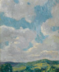 Fine Art - Painting, American:Modern  (1900 1949)  , FRANCIS LUIS MORA (American, 1874-1940). Cloud Study from theConnecticut Litchfield Hills, circa 1912-1919. Oil on pane...