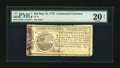 Colonial Notes:Continental Congress Issues, Continental Currency May 10, 1775 $20 PMG Very Fine 20 Net....