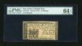 Colonial Notes:New Jersey, New Jersey June 22, 1756 12s PMG Choice Uncirculated 64 EPQ....
