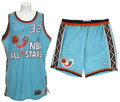 Basketball Collectibles:Uniforms, 1996 Shaquille O'Neal Game Worn All-Star Uniform & Sneakers....