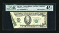 Error Notes:Foldovers, Fr. 2075-L $20 1985 Federal Reserve Note. PMG Choice Extremely Fine45 EPQ.. ...