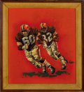 Football Collectibles:Others, 1970's Jim Brown Original Artwork by Gary Thomas....