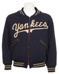Baseball Collectibles:Uniforms, Mid-1950's New York Yankees Game Worn Warm-Up Jacket....
