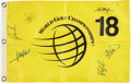 Golf Collectibles:Autographs, Circa 2000 World Golf Championships Signed Flag with Tiger Woods....
