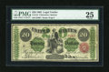 Large Size:Legal Tender Notes, Fr. 124 $20 1862 Legal Tender PMG Very Fine 25....
