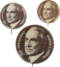 Political:Pinback Buttons (1896-present), Warren G. Harding: Three Size Gradations of this 1920 Campaign Button Design.... (Total: 3 Items)