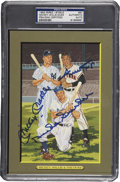 Autographs:Post Cards, Mickey Mantle Willie Mays And Duke Snider Signed Perez SteelePostcard PSA/DNA Certified Authentic. ...