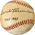 Autographs:Baseballs, 1955 Dwight D. Eisenhower Single Signed Baseball....
