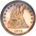 Proof Seated Quarters, 1878 25C PR66 Cameo NGC....