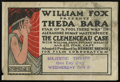 """Movie Posters:Drama, The Clemenceau Case (Fox, 1915). Herald (Multiple Pages, 5.5"""" X 8""""). Drama.. ..."""