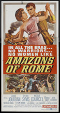 """Movie Posters:Adventure, Amazons of Rome (United Artists, 1963). Three Sheet (41"""" X 81"""").Adventure.. ..."""