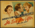 "Movie Posters:Comedy, It's Love I'm After (Warner Brothers, 1937). Title Card and LobbyCards (6) (11"" X 14""). Comedy.. ... (Total: 7 Items)"