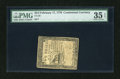 Colonial Notes:Continental Congress Issues, Continental Currency February 17, 1776 $2/3 PMG Choice Very Fine 35EPQ....