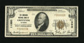 National Bank Notes:Wyoming, Cheyenne, WY - $10 1929 Ty. 1 The American NB Ch. # 11380. ...