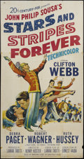 "Movie Posters:Musical, Stars and Stripes Forever (20th Century Fox, 1953). Three Sheet (41"" X 81""). Musical.. ..."