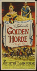 "Movie Posters:Adventure, The Golden Horde (Universal International, 1951). Three Sheet (41""X 81""). Adventure.. ..."
