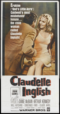 "Claudelle Inglish (Warner Brothers, 1961). Three Sheet (41"" X 81""). Drama"