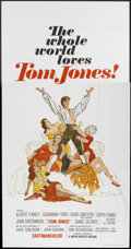 "Movie Posters:Comedy, Tom Jones (United Artists, 1963). Three Sheet (41"" X 81""). Comedy.. ..."