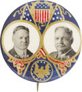 Political:Pinback Buttons (1896-present), Hoover & Curtis: A Rare and Colorful 1928 Jugate Button. ...