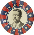 "Political:Pinback Buttons (1896-present), Theodore Roosevelt: A Unique and Dramatic 2¼"" Pinback. ..."