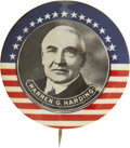 "Political:Pinback Buttons (1896-present), Warren G. Harding: The Equally Imposing 1¾"" Mate to the PrecedingCox Item...."
