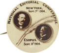 Political:Pinback Buttons (1896-present), Parker & Davis: One of the Top Jugate Button Designs For This1904 Democratic Ticket. ...