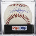 Autographs:Baseballs, Vladimir Guerrero Single Signed Baseball PSA Mint 8. ...