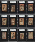 "Baseball Cards:Lots, 1910 ""Orange Borders"" Baseball SGC-Graded Collection (12)...."