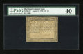 Colonial Notes:Maryland, Maryland August 14, 1776 $1 1/3 PMG Extremely Fine 40....