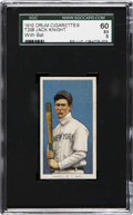 Baseball Cards:Singles (Pre-1930), 1910 Drum Cigarettes Jack Knight, With Bat SGC 60 EX 5. ...