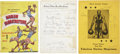 Basketball Collectibles:Others, 1940's-50's Harlem Globetrotters Signed Programs, Page....