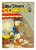 Golden Age (1938-1955):Cartoon Character, Walt Disney's Comics and Stories #91 (Dell, 1948) Condition:FN/VF....